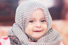 Muslim baby girl Stock Images