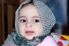 Muslim baby girl Royalty Free Stock Photography