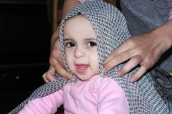 Muslim baby girl Stock Photo