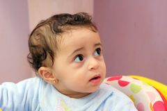 Muslim baby girl staring Stock Photo