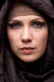 Young Arabic woman. Portrait of attractive young Arabic woman in traditional dress Stock Images