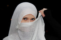 Muslim beautiful girl in Ramadan Royalty Free Stock Images