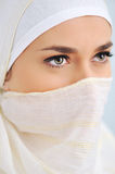 Muslim beautiful woman with scarf Royalty Free Stock Photo