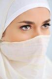 Muslim Beautiful Woman With Scarf Royalty Free Stock Photo