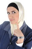 Muslim beauty woman thinking Royalty Free Stock Image