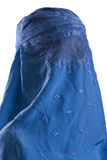 Muslim blue burqa Stock Photos