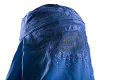 Muslim blue burqa Royalty Free Stock Image