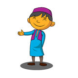 Muslim boy. In cartoon style Royalty Free Stock Photo