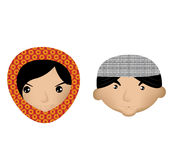 Muslim boy and girl Royalty Free Stock Image