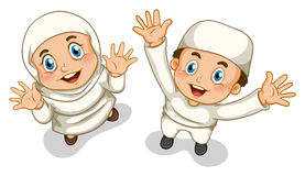 Muslim boy and girl Stock Photo