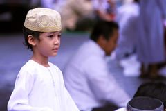 Muslim boy at Idul Fitri, Indonesia Royalty Free Stock Photos