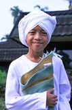 Muslim boy at Idul Fitri, Indonesia Stock Images