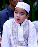 Muslim Boy at Idul Fitri, Indonesia Stock Photography