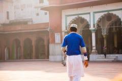 Muslim boy, mosque, Delhi Stock Photos