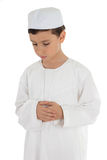 Muslim boy praying Stock Photography