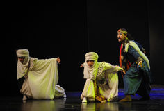 The Muslim brothers-Hui ballet moon over Helan Royalty Free Stock Photos
