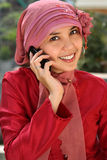Muslim Business Woman on Phone Stock Image