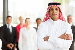 Muslim businessman stock photo