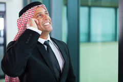 Muslim businessman talking Royalty Free Stock Photos