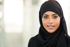 Muslim businesswoman. Beautiful muslim businesswoman in modern office stock photography