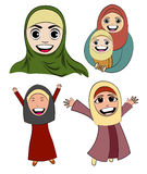 Muslim Cartoon Girl Vector Stock Photos