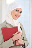 Muslim Caucasian female student Royalty Free Stock Images