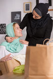 Muslim and caucasian women Royalty Free Stock Photos