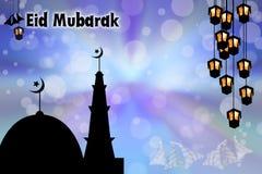 Muslim celebration eid mubarak Royalty Free Stock Image