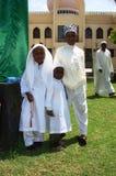Muslim celebrations of Eid in Africa, Nairobi Kenya. Muslim kids after eed prayers in Africa Stock Photos