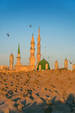 Muslim cemetary at Nabawi Mosque in Madinah. Royalty Free Stock Images