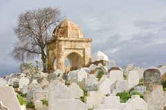 Muslim cemetery. Fes, old Moroccan capital Royalty Free Stock Image