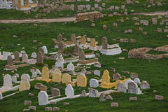 Muslim cemetery graves. Rabat, Morocco royalty free stock photography