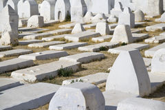 Muslim cemetery from Kairouan, Tunisia. The look of a Muslim cemetery - Kairouan, Tunisia Royalty Free Stock Photography