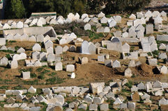 Muslim cemetery in Morocco Stock Photo