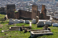 Muslim cemetery in Morocco Stock Photos