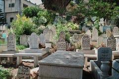 Muslim Cemetery in Nazareth, ISRAEL. Muslim cemetery in the old city of Nazareth, Israel Royalty Free Stock Image
