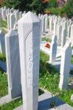 Muslim cemetery in Sarajevo, Bosnia Stock Image