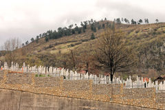 Muslim cemetery in Sarajevo Royalty Free Stock Photos