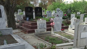 Muslim cemetery. Varna. Bulgaria. stock video