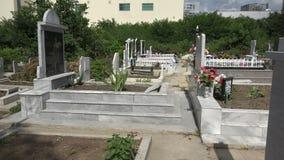 Muslim cemetery. Varna. Bulgaria. 4K. stock video footage