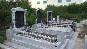 Muslim cemetery. Varna. Bulgaria. 4K. stock video