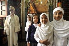 Muslim children. In the mosque in Srinagar Stock Images