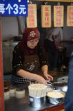 Muslim Chinese cooking stand Stock Image
