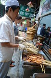 Muslim Chinese food stand Stock Photo