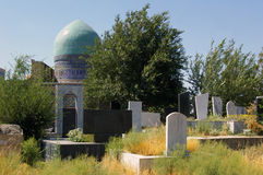 Muslim cimetery and dome mosque. Stock Photos