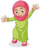 Muslim. Close up muslim kid smiling Stock Photography