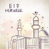 Muslim community festival, Eid Mubarak celebration with Mosque. Muslim community festival, Eid Mubarak celebration with Mosque on abstract background vector illustration