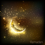 Muslim community golden cover of ramadan Stock Photography