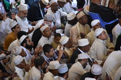 Muslim congreation beseeching God  in a Kenyan mosque Stock Photography
