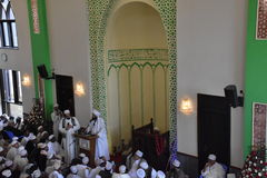 Muslim congreation  in a Kenyan mosque Stock Photography